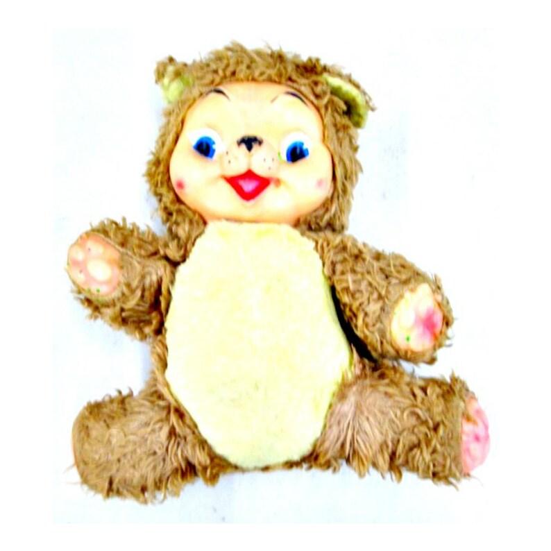 RUSHTON Style Chubby Tubby RUBBER Face Teddy Bear Rare 1950s image 0