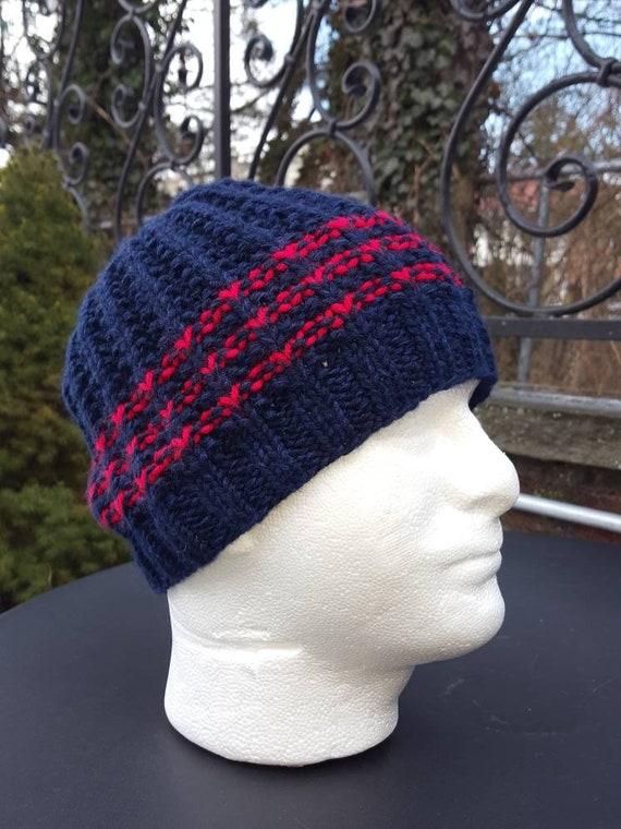 Winter Hats for men Blue Men s hats Wool hats in blue  b7de9bd53e9
