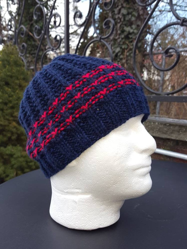 358a03511b2 Winter Hats for men Blue Men s hats Wool hats in blue