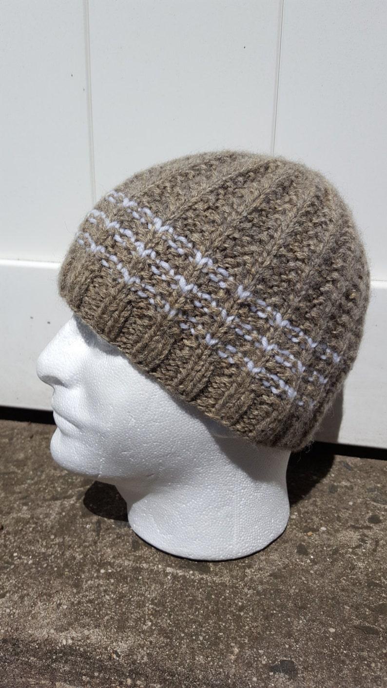 27ef5e763 Brown knit hat Men grey wool beanie Knitted men beanie brown knit beanie  Knit hat mens Knit winter Beanie Grey beanie hat Mens beanie hat