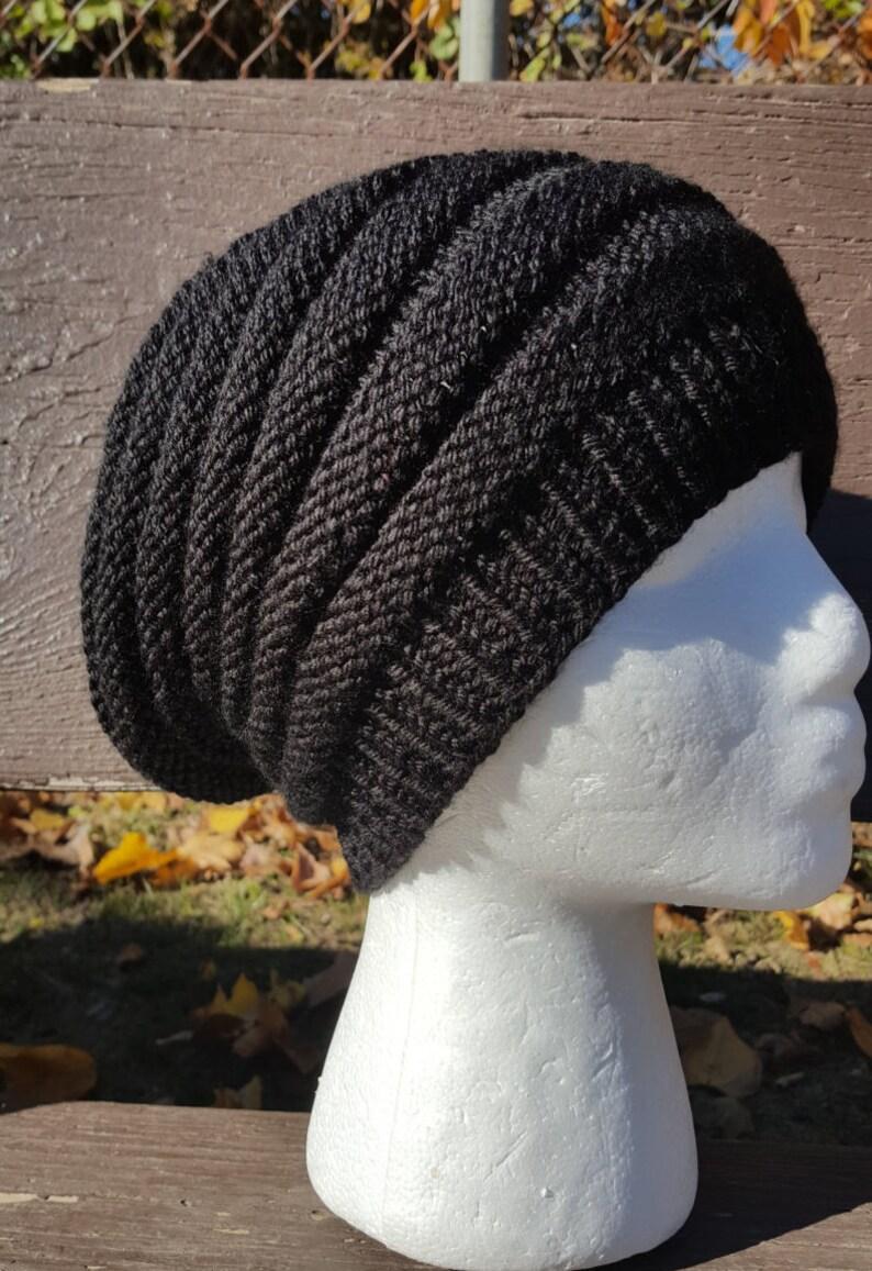 315ed03a666 Black Beanie Black Slouchy Hat Black Ribbed Beanie Free