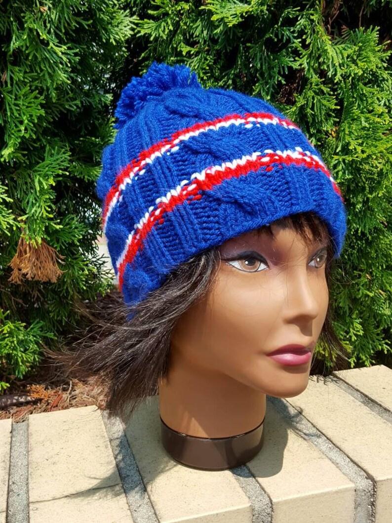 9ebe246e45153 Rangers Knit hat   Hockey beanie   Team hats   Team beanie