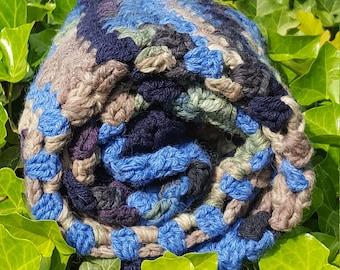 Crochet blue blanket, Crochet Baby Blanket, Afghan in Light Blue, Baby Boy Throw - Denim Baby Blanket, Crochet Blanket, Blue Afghan