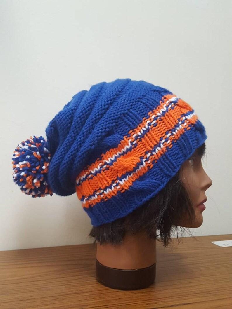e64f354b1c268 Hockey hat Isles hat Islander hat Beanie with Pom Pom