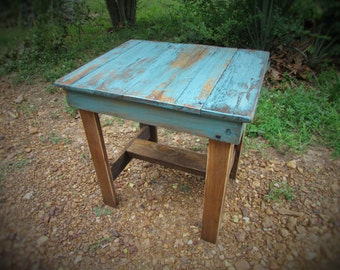 more colors rustic distressed end table - Distressed End Tables