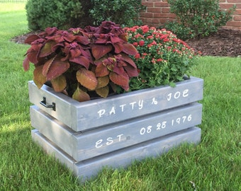 Personalized Rustic Crate