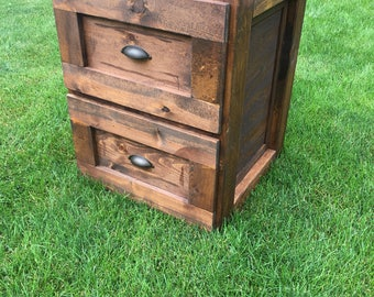 Rustic filing cabinet