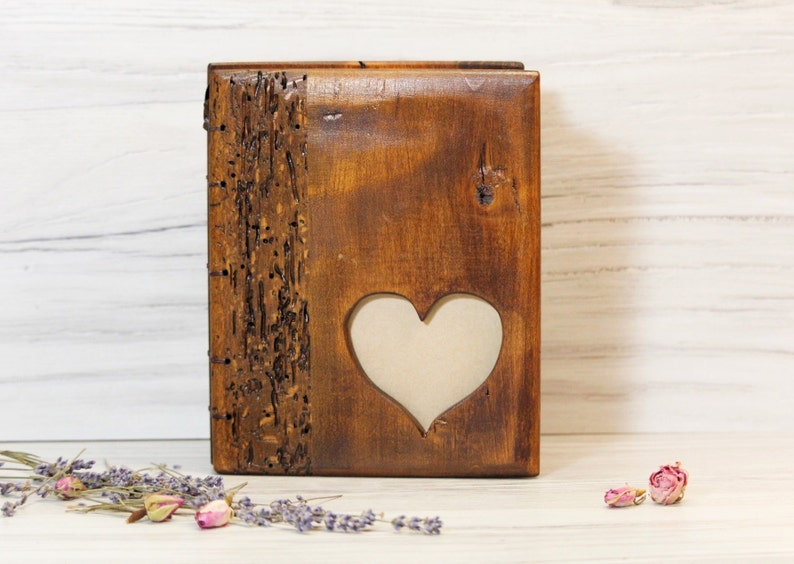 Scrapbooking Rustic Wedding Guest Book Wood Hand binded Guestbook Wedding Guest Book Personalized Wedding Guest Book Wood Guest Book