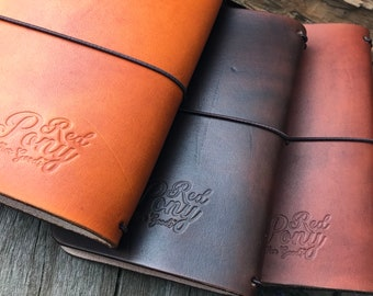 Travelers Notebook, Leather Journal Cover, Whiskey Brown