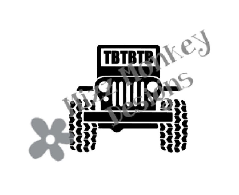 Jeep Geocaching Trackable TB Travel Bug Travelbug - vinyl car auto vehicle  decal sticker - CUSTOM COLOR - Made to order!