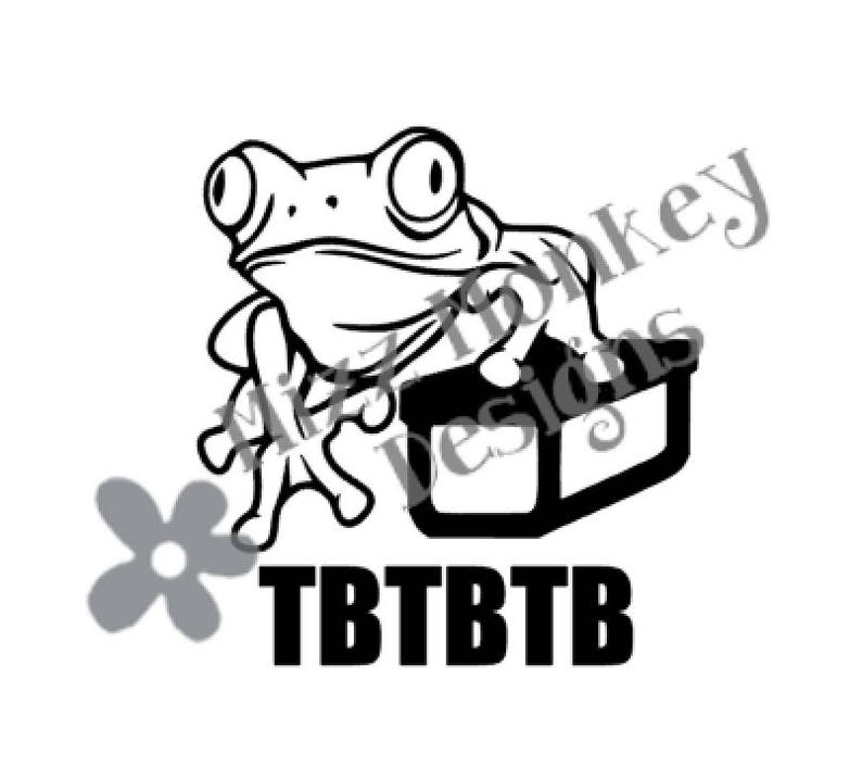 Frog Ammo Can Geocaching Trackable TB Travel Bug Travelbug - vinyl car auto  vehicle decal sticker - CUSTOM Color - Made to order!