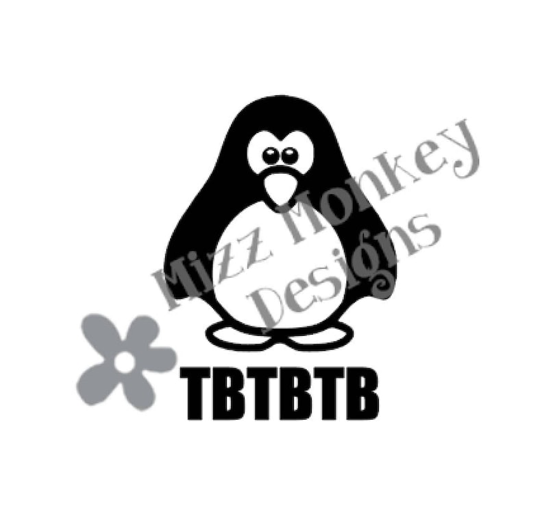 Penguin Geocaching Trackable TB Travel Bug Travelbug - vinyl car auto  vehicle decal sticker - CUSTOM Color - Made to order!