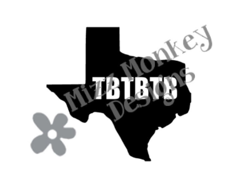 State of Texas State Geocaching Trackable TB Travel Bug Travelbug - vinyl  car auto vehicle decal sticker - CUSTOM COLOR - Made to order!