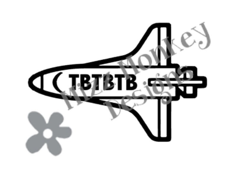 Space Shuttle Geocaching Trackable TB Travel Bug Travelbug - vinyl car auto  vehicle decal sticker - CUSTOM COLOR - Made to order!