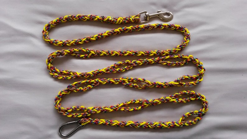 Multi function / Adjustable Dog Leash, Paracord 425, 4 strand round braid,  Custom made, Extremely strong