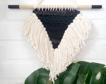 Woven | Wall hanging | neutral | home | nursery | boho | Decor | Triangle | Geometric | gifts for her | Fringe and Forest