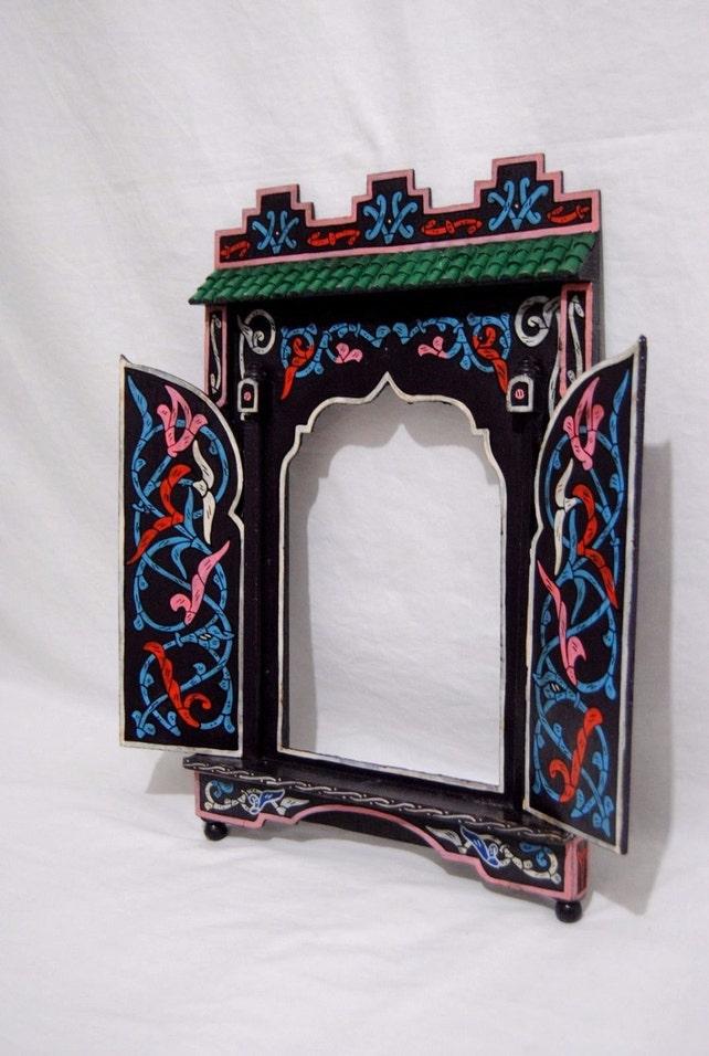 Marroquí marco espejo Pintado hecha a mano artesano 1377 | Etsy