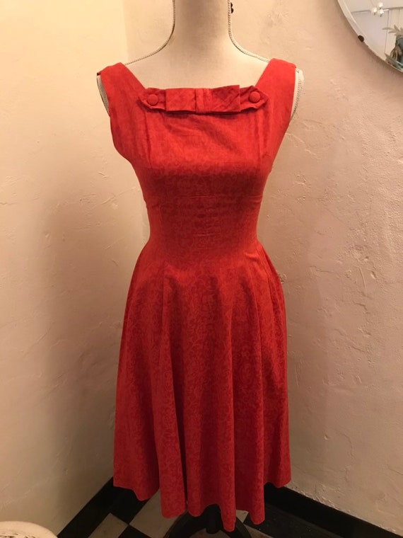 Adorable '50s cherry red dress