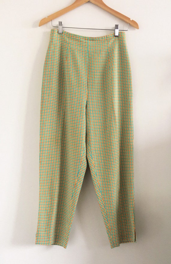 Incredible Lime Green Vintage High Rise Tapered Pa