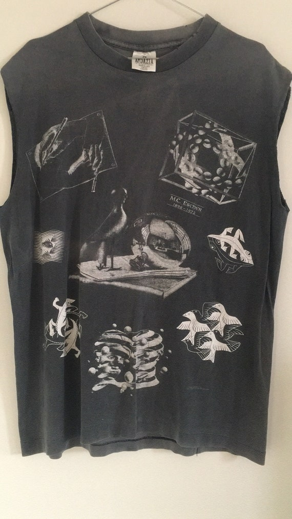 Rare Vintage MC Escher Artist Graphic Shirt / Surr