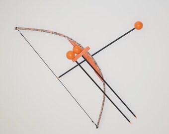 bullseye bow ~ Orange Camo Toy Bow and Arrow Trainer
