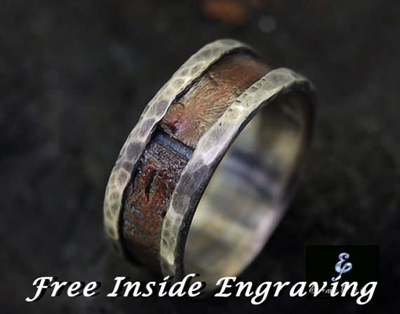 Mens Ring Mens Engagement Ring Mens Wedding Band Men's image 0