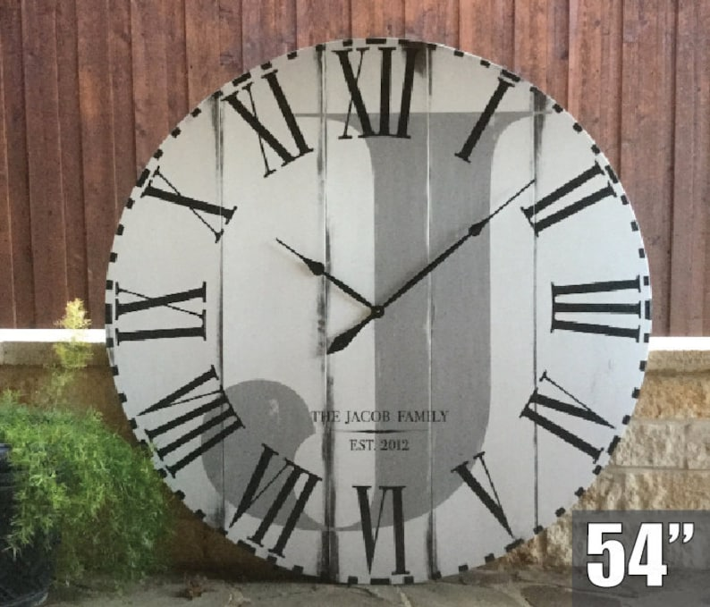Extra Large Wall Clock Large Rustic Clock Country Home Etsy