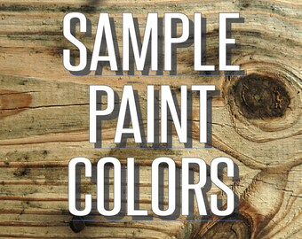 Sample Paint Colors