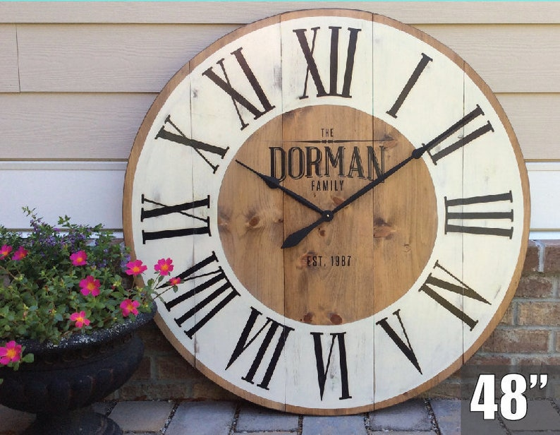 Extra Large Wall Clock Giant Wall Clock Unique Wall Clock Etsy