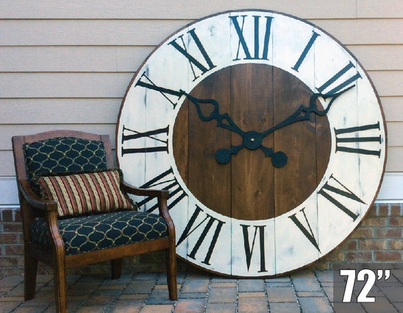Large Clock In Foyer : Giant wall clock large office art entryway decor etsy