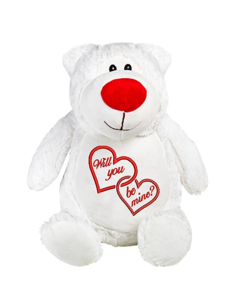 Cubbies Cubbyford White Valentines Bear Personalized & image 0