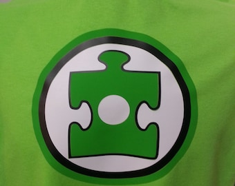 Autism Awareness - Green Superhero Youth