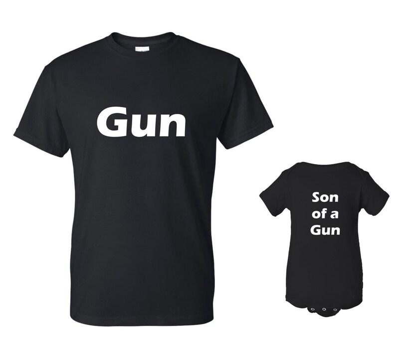 GUN Son of a GUN T-shirt and Onesie Set image 0