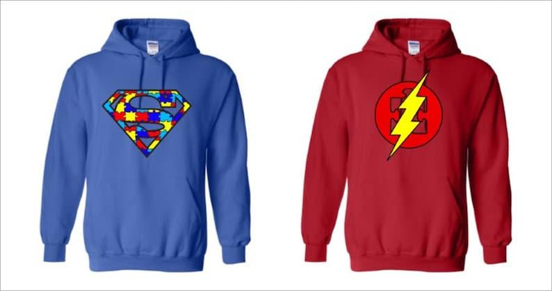 Autism Superhero Adult Hoodies image 0