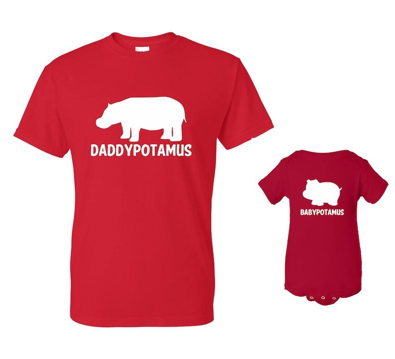 DADDYPOTAMUS BABYPOTAMUS T-shirt and Onesie Set image 0