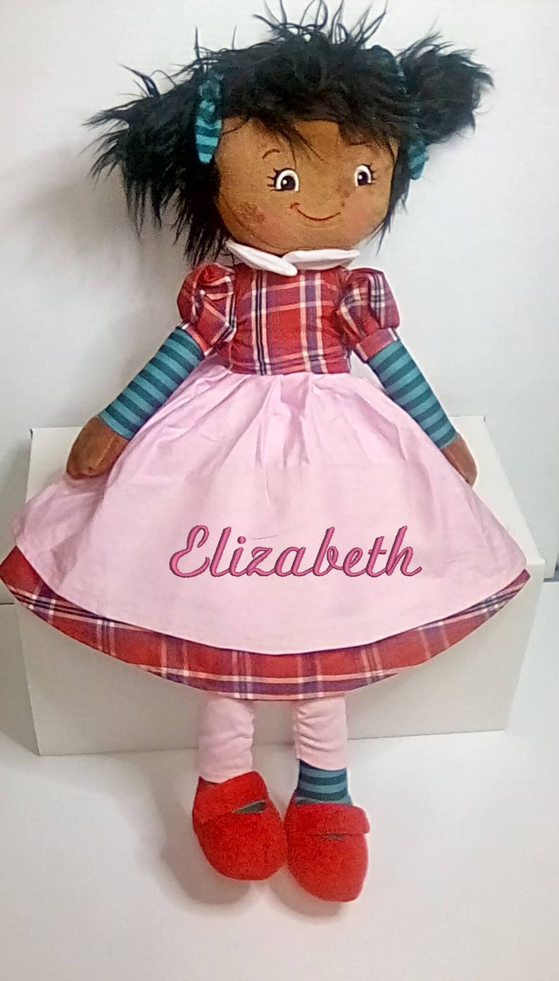 Cubbies Brunette Rag Doll Personalized & Embroidered image 0