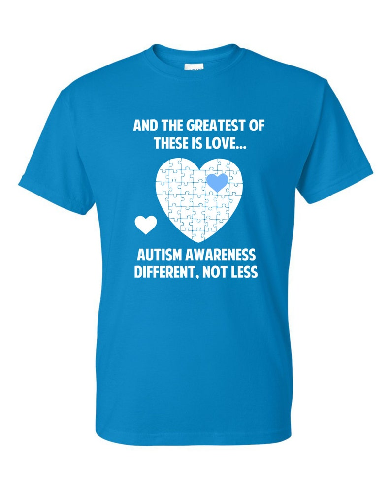 Different Not Less Youth Autism Tshirt image 0
