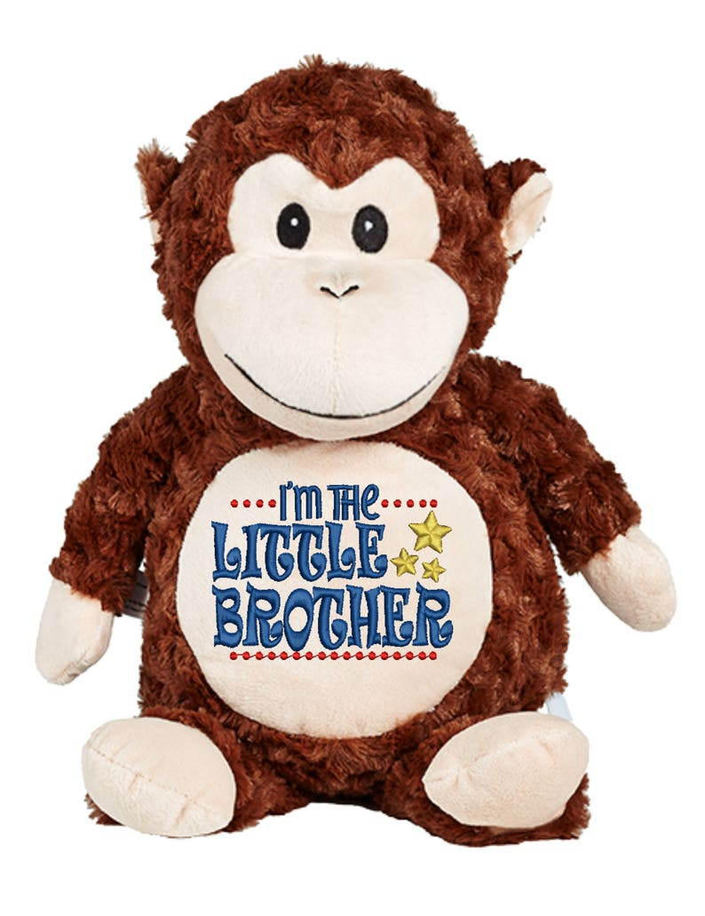 Cubbies Brown Monkey Personalized & Embroidered Monogrammed image 0