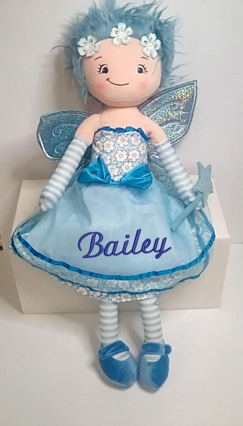 Cubbies Fairy Rag Doll Personalized & Embroidered Monogrammed image 0