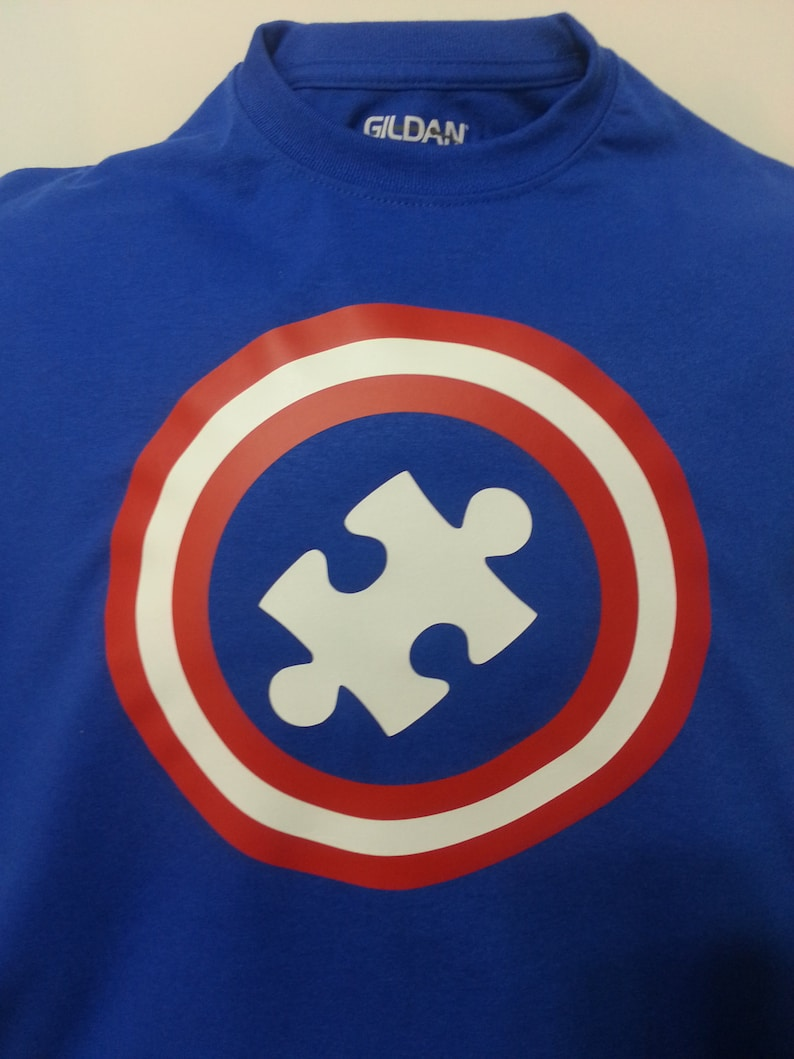 Autism Awareness  Captain Superhero Adult image 0