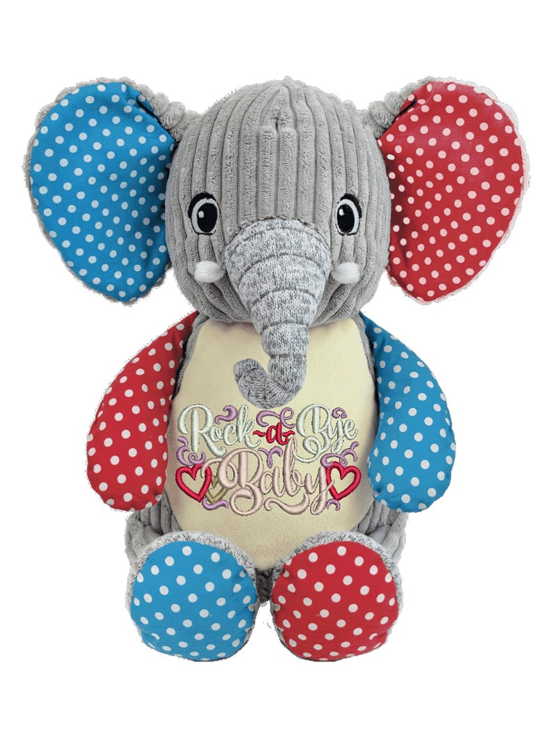 Cubbies Harlequin Elephant Personalized & Embroidered image 0