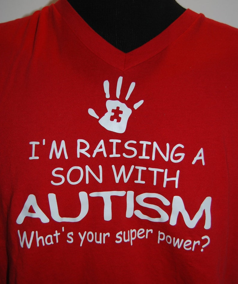 Raising a child with Autism Vneck image 0