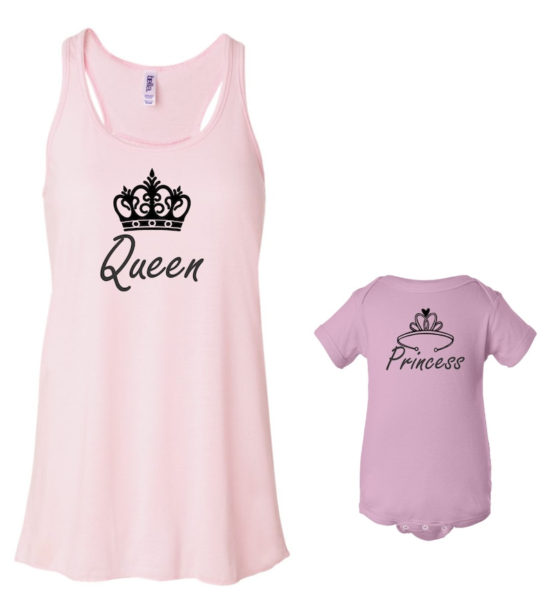 Queen and Princess Flowy Tank and Onesie Set image 0