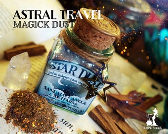Astral Projection Magick Incense *Star Dust* with herbs, resins & crystals - Sandalwood, Cinnamon, Mugwort and Quartz