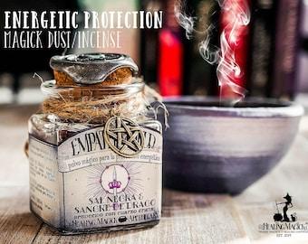 Protection Magick Dust *Empath Shield* Witchcraft - Black Salt, Dragons Blood & Crystal Quartz