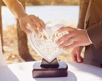 The Unity Heart ® Pearlescent White