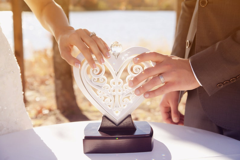 The Unity Heart ® Pearlescent White image 1