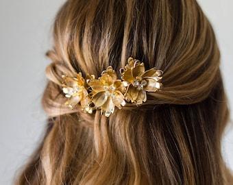 Bridal Comb Bridal Hair Comb Bridal Headpiece Wedding Headpiece Flower Comb Bridal Flower Comb Gold Hair Comb Silver Comb #170