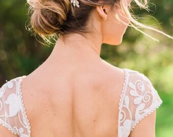 Gold Opal Crystal Hair Comb Bridal Comb Bridal Headpiece Crystal Headpiece Bridal Hair piece Wedding Hair piece Opal Hair comb #150