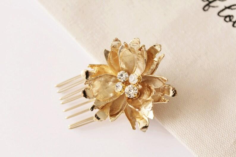 Bridal Floral Headpiece Set Bridal Flower Comb Gold Flower Comb Silver Bridal Hair Pins Crystal Pins Flower Hair Pins Bridal Pins #171 #172